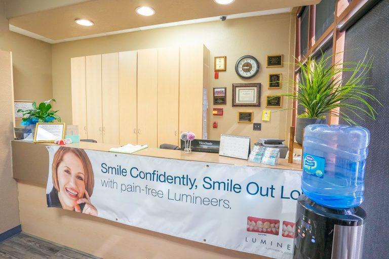 Reception Desk of Orangecrest Dental